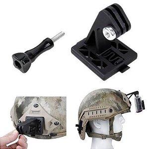 Suporte para capacete tático de AirSoft e outros, compatível com câmeras GoPro e Similares