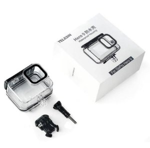 Caixa Estanque Telesin até 45m Para Cãmeras GoPro HERO9 Black - GP-WTP-901