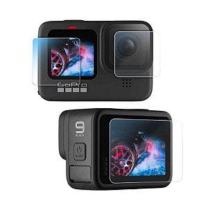 kit de Películas em Vidro Temperado para GoPro HERO9 Black