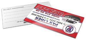 Cartão de visitas 4x1 cores - 1000 unidades