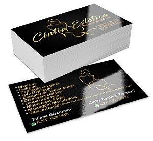 Cartões de visita 4X4 cores - REF.: Z CV455 - Milheiro