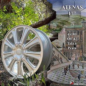 JOGO DE RODA BRW1610 VECTRA CD ATENAS ARO 17 4X100 TALA 6