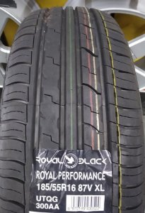 PNEU 185 55 16 ROYAL BLACK PERFORMANCE 87V