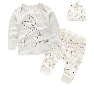 Kit roupa de bebê - HAPPY BUNNY