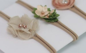 Kit Headband Floral para bebê