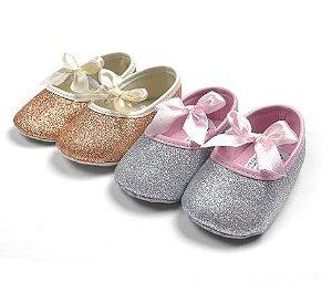 Kit com 2 sapatilhas - Glitter