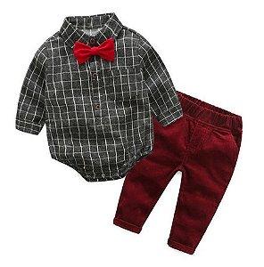 Conjunto de menino - Dark red