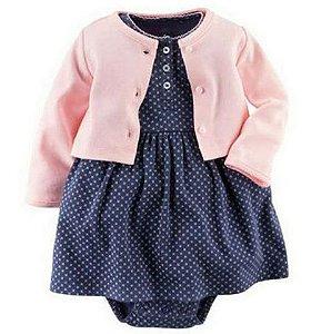 Vestido de bebê - Navy cutie