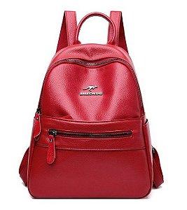 Mochila Maternidade Leather (Vermelha)
