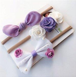 Kit com faixinhas de cabelo - Purple