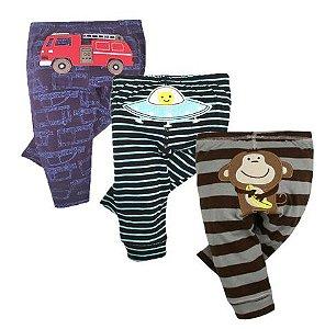 Kit com 3 calças - Monkey