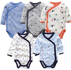 Kit com 5 bodies kimono - TEO