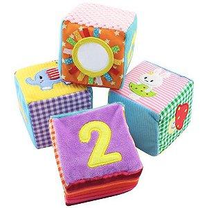 Cubos sensoriais - 4 peças