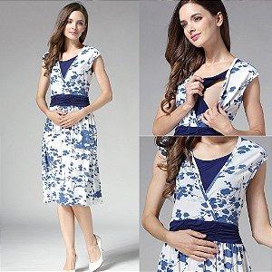 Vestido de amamentação floral