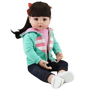 Boneca Realista Bebê Reborn 47 cm Princesa Victória