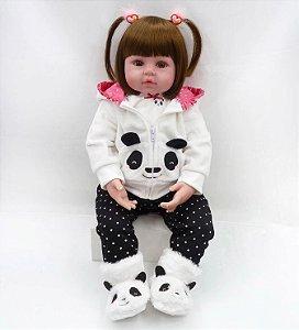 Boneca Realista Bebê Reborn 48 cm - Panda