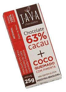 63% Cacau + Coco Queimado e Pimenta JAVA25g