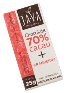 70% Cacau + Cranberries JAVA25G
