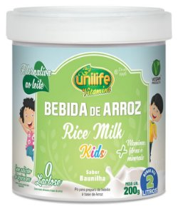 Bebida De Arroz Rice Milk Kids 200g
