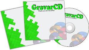 1000  Cópias de CD com Envelope 12x12 em papel Triplex