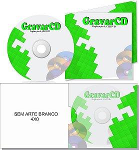 500 Cópias de Cd com Envelope 12x12 + 1 ABA Impressão 4X0