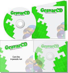 1000 Cópias de Cd com Envelope 12x12 + 1 ABA Impressão 4X4