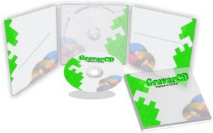 1000 Cópias de Cd com Envelope Digipack 3 paineis