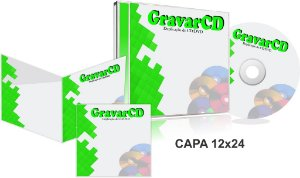1000 Cópias de Cds no Box Acrílico com Encarte 12x24 + Fundo de caixa