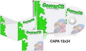 1000 Cds Injetados no Box Acrílico com Encarte 12x24 + Fundo de caixa