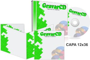 1000 Cds Injetados no Box Acrílico com Encarte 12x36 + Fundo de caixa