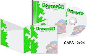 500 Cópias de Cds no Box Acrílico com Encarte 12x24 + Fundo de caixa