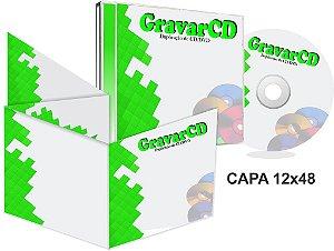 1000 Cds Injetados no Box Acrílico com Encarte 12x48 + Fundo de caixa
