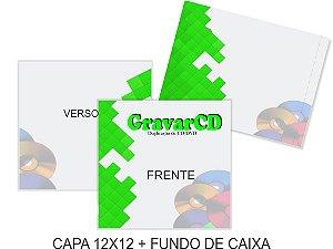 1000 Encarte 12x12 + Fundo de caixa impressão 4x4