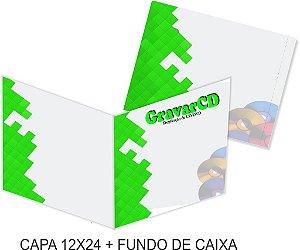 1000 Encarte 12x24 + Fundo de caixa impressão 4x4