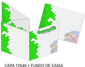 1000 Encarte 12x48 + Fundo de caixa impressão 4x4