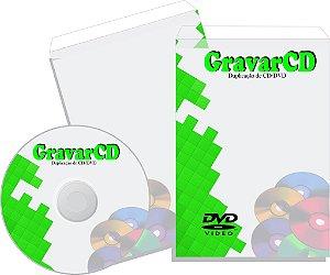 1000 Cópias de DVD com Envelope 12x17 Simples
