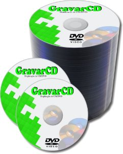 1000 Cópias de DVD com silk screen