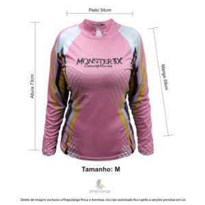 Camisa Feminino Monster3x New Fish Wide (M)
