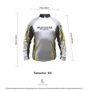 Camisa Monster3x New Fish Wide 01 (XG)