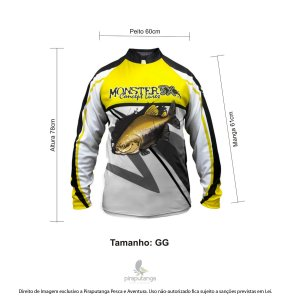 Camisa Monster3x New Fish Wide 02 (GG)