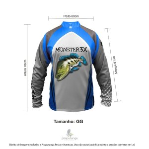 Camisa Monster3x New Fish Wide 03 (GG)