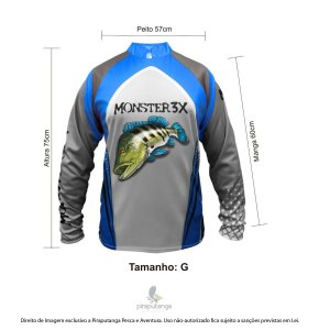 Camisa Monster3x New Fish Wide 03 (G)