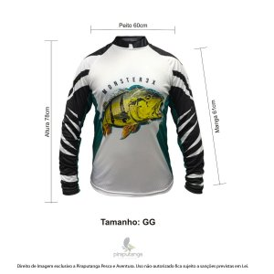 Camisa Monster3x New Fish Wide 07 (GG)