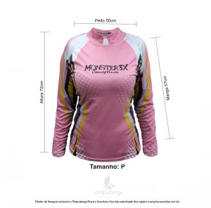 Camisa Feminino Monster3x New Fish Wide (P)