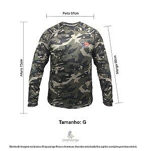 Camisa Pesca Monster3x Outdoor 01 Camuflada G