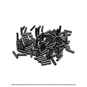 Luva/Anilha Fishtex Black N°00 (1,4mm) para Cabo de Aço, 100p