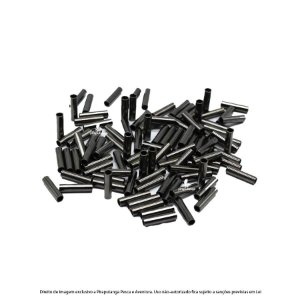 Luva/Anilha Fishtex Black N°0 (1,6mm) para Cabo de Aço, 100p