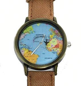Relógio Mini Mundo Caramelo