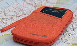 Carteira para Passaporte - Laranja