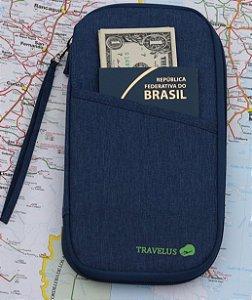 Carteira para Passaporte - Azul